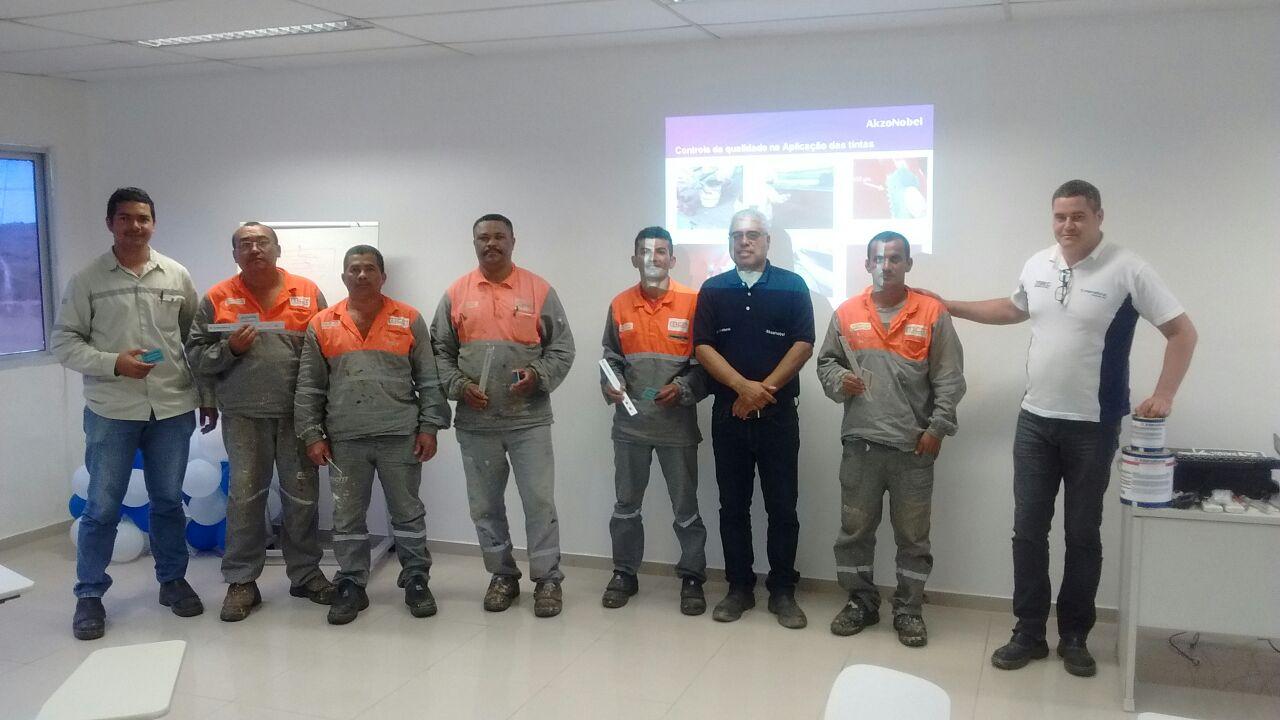 Treinamento para Pintores Industriais na Obra Unilever