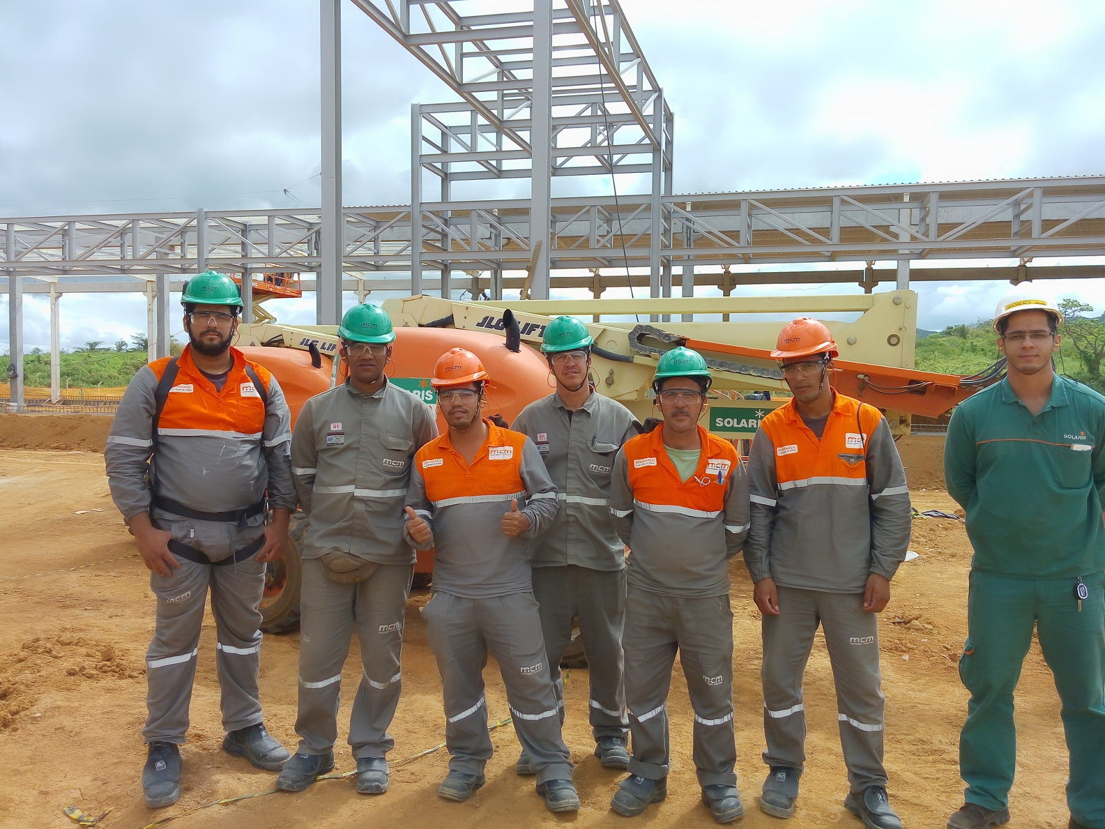 Treinamento de operação de Plataforma Elevatória na Obra Moura